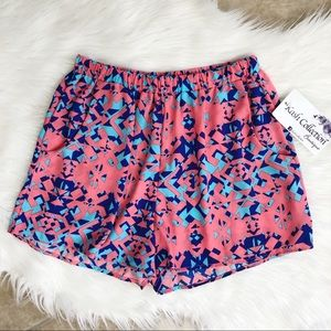 NWT high waisted neon prism pattern shorts